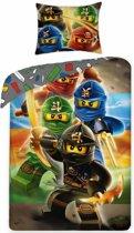 Lego Ninjago Quadrant - Dekbedovertrek - Eenpersoons - 140 x 200 cm - Multi