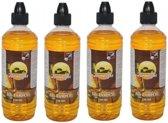 4 flessen citronella lampenolie / fakkelolie - 750 ml - met gratis aansteker