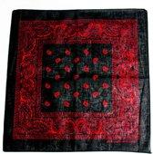Paisley bandana zwart/rood - Zac's Alter Ego
