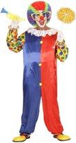Clown & Nar Kostuum | Clown Zwart Rood Traditioneel | Man | Large | Carnaval kostuum | Verkleedkleding