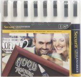 Krijtstift Securit SMA-510 schuin wit 2-6mm blister à 8st