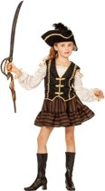 Piraten meisje bruine pirate voor kind