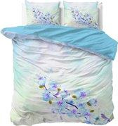 Sleeptime Katoen Sweet Flowers - Dekbedovertrekset - Tweepersoons - 200x200/220 + 2 kussenslopen 60x70 - Blauw
