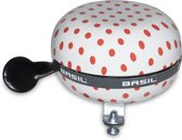 Big Bell Basil Polkadot 80mm ding dong white/red 50398