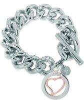 TOV Essentials Heart Bi-Colour Trinity Bracelet - Armband - Zilver/Rosé - 22 cm