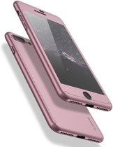 360° Protect Telefoonhoesje + Screenprotector voor  Apple iPhone 5 5S SE  - Roze - © Floveme Quality
