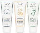 Naif Care 3 x Toddler Essentials - Shampoo + Bodylotion + Wasgel