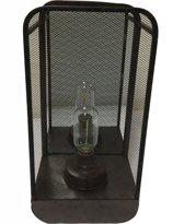 Sfeerlicht Industrieel - Metaal - LED Lamp - Spiegel - 36cm