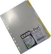 EXXO-HFP #93007 - A4 XW Tabbladen - 6 Venstertabs - Extra breed 235/250mm - 10 sets