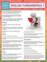 English Fundamentals 1 (Speedy Study Guides)