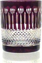 Kristallen whiskeyglazen  - Whiskyglas CHRISTINE - aubergine - set van 2 glazen - gekleurd kristal