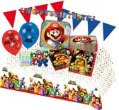Super Mario feestpakket Deluxe | feestartikelen kinderfeest voor 8 personen