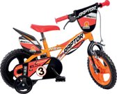 Dino Raptor - Kinderfiets - Jongens - Oranje - 12 Inch