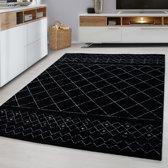 Modern vloerkleed - Broadway - 160x230 cm Zwart
