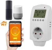 Draadloze Stopcontact Thermostaat - Met Wifi - Tijdschakelaar - Programmeerbaar - Voor Vloerverwarming en Elektrische Verwarming