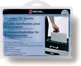 Rexel Oil Sheets Pak - 12 stuks  - onderhoud voor alle papiervernietigers