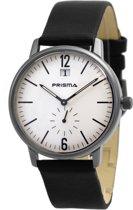 Prisma Herenhorloge P.1219 Lederen band Zilver