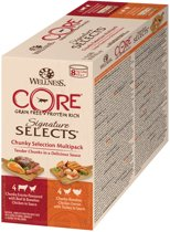 Wellness Core Signature Selects Chunky Multi-Pack - Kattenvoer - Mix 8x79 g