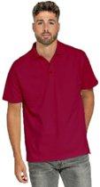Bordeaux rode poloshirts voor heren - Bordeaux rode herenkleding - Werkkleding/casual kleding XL (42/54)