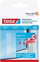 Tesa klevende strip voor glas en transparant 8x1kg