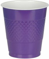 10 Cups Plastic Purple 355 ml