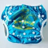 Big Size zwemluier zeemeermin turquoise
