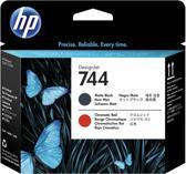 HP 744 matzwarte/chromatisch rode DesignJet printkop