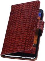 Samsung Galaxy Note 2 Hoesje Slang Bookstyle Rood