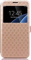 Shop4 - Samsung Galaxy S7 Edge Hoesje - Window View Case Diamond Series Goud