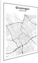 Stadskaart klein - Groningen Poster - Klein 40x30 cm - Plattegrond