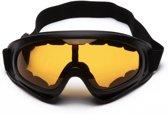 Ski/Snowboard bril wintersport - bruin gekleurd glas.