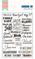 Marianne Design Stempel Project Nederlands  - Mannen (Nederlands)