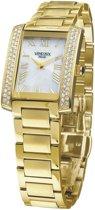 VENDOUX The Champs Gold/White MD66000-02 - Horloge - Dames - Goudkleurig - Ø 25mm x 40mm