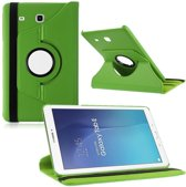 Samsung Galaxy Tab E 9.6 Inch SM - T560 / T561 Hoes Cover 360 graden draaibare Case groen