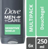 Dove Men+Care Sensitive Shield - 6 x 250 ml - Douchegel - Voordeelverpakking