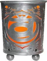 Sacraal Chakra Votive theelicht houder Oranje Glas