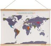 Borduur Wereldkaart - Stich World Map