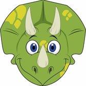 Kartonnen dinosaurus masker voor kinderen