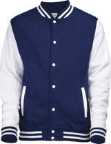 AWDis Varsity jacket, Oxford Navy/White, Maat M
