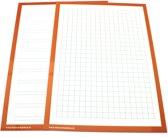 Wisbordjes A4 met lijntjes en vakjes (30 stuks)