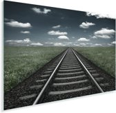 Een eindeloze spoorweg Plexiglas 90x60 cm - Foto print op Glas (Plexiglas wanddecoratie)