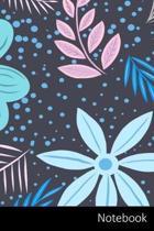 Notebook: Muster, Natur, Farbe, Banner Notizbuch / Tagebuch / Schreibheft / Notizen - 6 x 9 Zoll (15,24 x 22,86 cm), 150 Seiten,