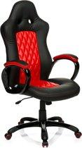 hjh office Racer Executive - Bureaustoel - PU Leder - Zwart / rood