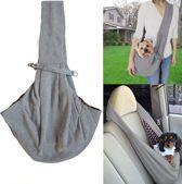 TKSTAR Hondendrager Baby Tas Nylon Reistas Belly Shoulder Carrier Voor Kleine Huisdieren|Huisdieren Binnen 4,5 kg | Grijs