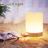 Touch Lamp LED Klein - Tafellampjes - Slaapkamer Lamp - Nachtkast Lampje - Buitenlamp - 3 Verschillende Standen - 6 Verschillende Kleuren - Gratis Verzending