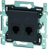 NIKO Intense Antracite inbouw telefoon RJ11 en ADSL stopcontact