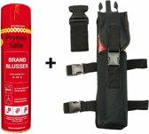 Prymosafe, Universele spray-blusser, inhoud 760 ml, 1 Brandblusser voor alle meest voorkomende beginnende branden inclusief beenholster.