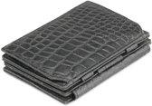 Garzini Magic Wallet Magistrale met Muntvak RFID Leder Croco Zwart