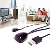IR Afstandbediening ontvanger Verlenger infrarood transmitter - Zwart