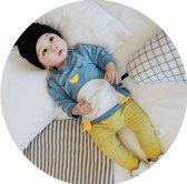Babycity broek ruit geel maat 92